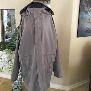 Men's rain travel coat